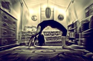 bending over backward